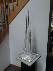 RARE VTG BEAUTIFUL SIGNED VAN TEAL ABSTRACT LUCITE SCULPTURE 44quot; TALL EXCELLENT $850.00