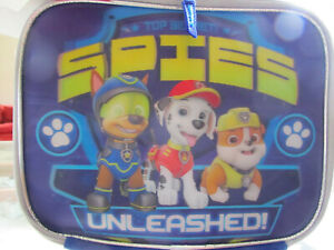 Nickelodeon Paw Patrol Lunch bag Soft Kit Insulated Cooler SPIES UNLEASHED  BLUE