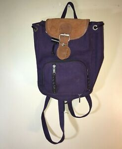 Vintage Retro Small Purple Backpack $109.99