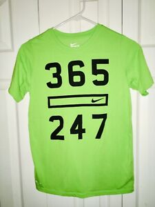 Nike Dri fit Shirt Youth Boys Size Large Green $4.99
