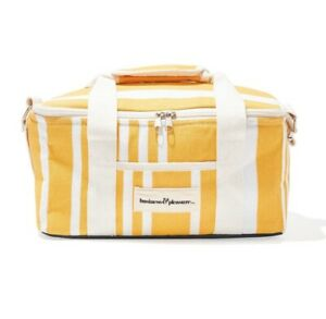 Business and Pleasure Co. Insulated Cooler Bag Yellow Striped-FabFitFun