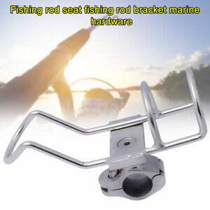 Stainless Steel Fishing Rod Holder Tackle Clamp On Kayak Adjustable Boat Mount