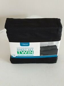 Checker Embossed Twin 3pc Sheet Set USA seller fast shipping.