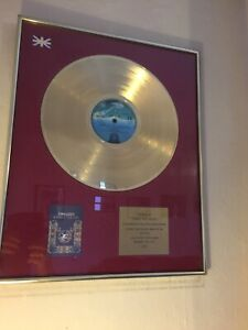 Original THIN LIZZY Gold Disc - Johnny The Fox Album to Gangster JIMMY THE WEED