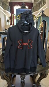Nice Under Armour Size XL Boys Youth Black YXL Hoodie Camo pattern. Huge logo $12.99