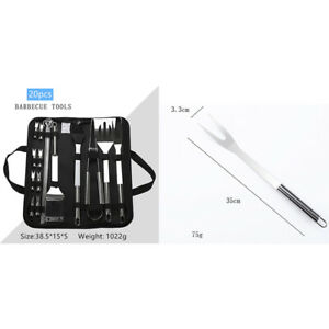 Multifunction Stainless Steel BBQ Tool Set Outdoor Barbecue Grilling Accessories