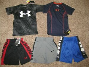 Nike and Under Armour Boys XS Lot Shirt Shorts $69.99