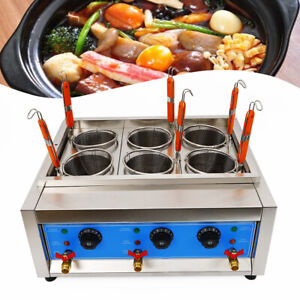 Commercial 6Holes Noodle Cooking Machine Electric Pasta Cooker w/Basket 6KW 110V