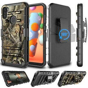 For Samsung Galaxy A21 A11 Phone Case Stand Armor Cover with Belt Clip Holster