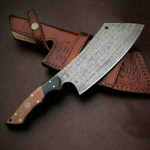 Custom Hand Made Damascus Steel Chef knife Kitchen use Clever knife C49
