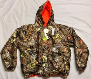 WFS Element Gear Burly Camo Waterproof Reversible Insulated Jacket Coat Hunting