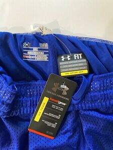 Under Armour Heat Gear Shorts Size Large Color:Blue NEW $15.00
