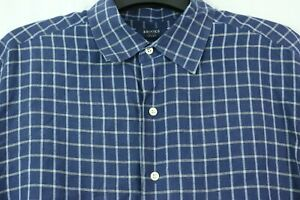 Brooks Brothers SPORT Large 100% Linen Button Front Shirt Casual Plaid Short Slv $29.95