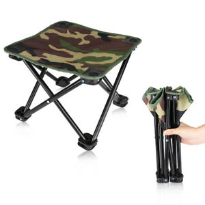 Portable Camping Chairs Outdoor Camouflage Folding Hiking Oxford BBQ Stool Seat