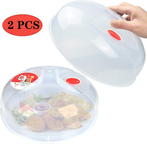 Microwave Plate Cover For Food Large Easy Grab Microwave Cover Splatter Guard Th
