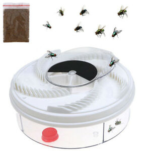 Electric Fly Trap Device w/ Trapping Food White USB Cable US Insect Killer BEST