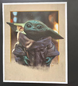 Little Bounty - by Juan Carlos Ruiz Burgos - Baby Yoda Star Wars 8x10 Giclee $50.00
