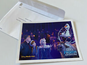 NEW Disney Movie Club Exclusive Olaf's Frozen Adventure 5x7 Lithograph $14.99