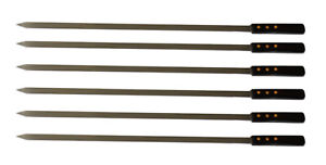 Extra Strength Stainless Steel BBQ Skewers 25 x 1 2 In 6 Pack FREE Shipping