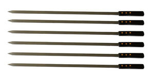 Extra Strength Stainless Steel BBQ Skewers 25 x 1/2 In - 6 Pack - FREE Shipping