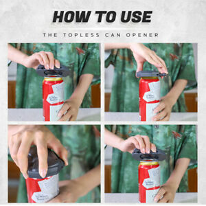 Topless Can Opener Bar Tool Safety Manual Opener Household Kitchen Tool Go Swing
