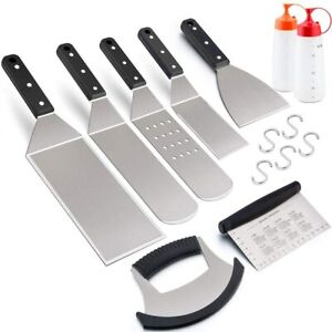 Griddle Tools for BBQ Flat Top Grill Accessories Set of 9 For Blackstone Griddle