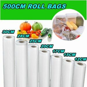 Kitchen Transparent Vacuum Sealer Bag Roll Food Saver Package Seal Storage 500cm
