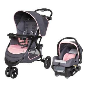 Baby Trend EZ Ride Travel System Infant Stroller amp; Car Seat Combo Flamingo Pink