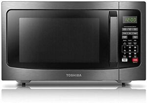 Toshiba EM131A5C-BS Microwave Oven 1.2 cu ft 1100W- Black Stainless Steel