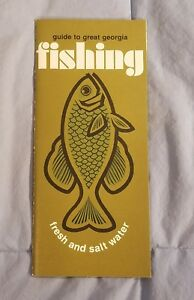 VINTAGE 1960s OFFICIAL Guide To Fresh amp; Salt Water Fishing Georgia Brochure Maps