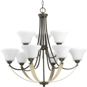 Progress Lighting P400013 020 Noma Chandelier Antique Bronze