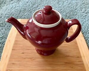 McCormick Burgundy 4 Cup Tea Pot with Infuser and Lid, Excellent Condition!