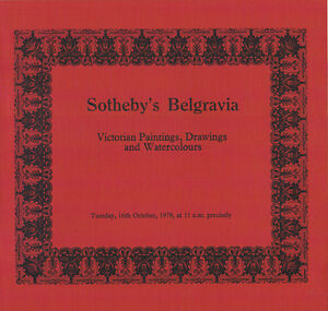 Sotheby#x27;s Belgravia Victorian Paintings Drawings and Watercolours Oct 16 1979 $3.98