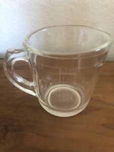 Pyrex Vintage 1 Cup Measuring Cup With Clear Markings  Rare. 508    Y-11