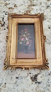 Small Original Oil On Board Painting Still Life Flowers Signed $69.99