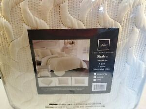 NEW Chic Home Comforter Shalya Twin BQS19943 3 peice Quilt Set