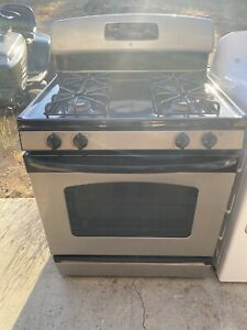 GE Black And Silver Gas Kitchen Ranges