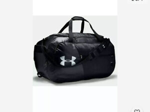 Under Armour UA Dufflet Storm Bag Undeniable 4.0 XL Large Black Silver NWT $33.99