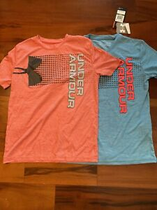 boys youth large under armour shirts $13.95