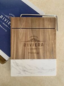 Disney's Riviera NEW Wood and Marble CHEESE CUTTING BOARD - EXCLUSIVE!