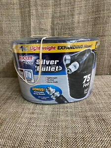 Pocket Hose Silver Bullet Expandable Water Hose As Seen On TV, 75 ft
