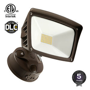 28W Dusk to Dawn LED Outdoor Flood Light ETL Listed 3400lm 5000K Daylight