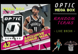 1 BOX LIVE BREAK 19 20 PANINI DONRUSS OPTIC BASKETBALL MEGA * RANDOM TEAMS *