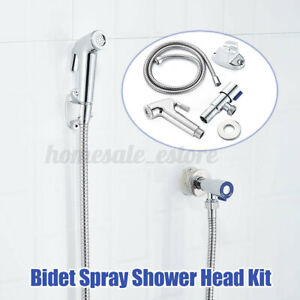 Stainless Steel Hand Held Toilet Bidet Sprayer Shower Water Spray Head Hose Kit