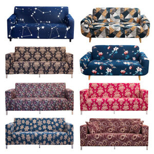 1 2 3 4 Seat Sofa Cover Spandex Stretch Floral Printed Couch Slipcover Protector