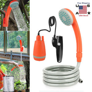 Portable Outdoor Shower Water Pump USB Rechargeable Camping Body Dog Car Wash US