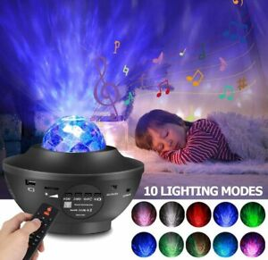Bluetooth Music LED USB Star Night Light Projector With Remote Bedroom Kid Gift