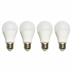 Satco led A19,S28541 9.5W 60W 15000Hours 3000K,Soft white,Medium Base, 4/Pack.