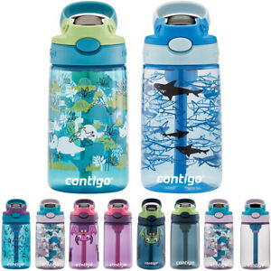 Contigo Kid#x27;s 14 oz. AutoSpout Straw Water Bottle with Easy Clean Lid 2 Pack