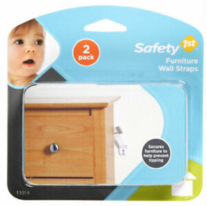 Safety 1St 11014 Furniture Wall Strap White 2 Pack
